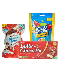Lip-Smacking Pack of Kinder Joy Schoko Bons, Chocopie N Jolly Rancher Lolly Pop