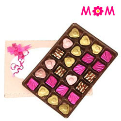 Chocolaty manner to greet Mom