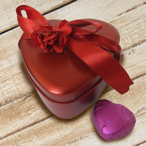 Special Red Heart Shaped Homemade Chocolates Box