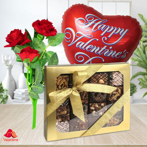 Lovingly-Made Fudge Brownies for your Mr. Valentine