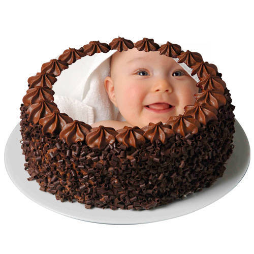 Molded Fancy Chocolate Photo Cake<br>
