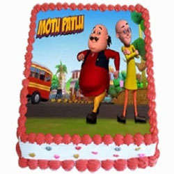 Tasty Motu Patlu Photo Cake for Kids