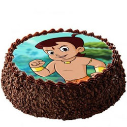 Birthday Celebration Chota Bheem Photo Cake