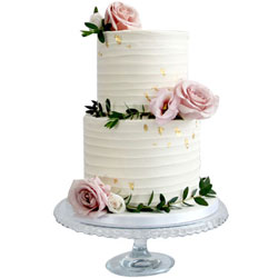 Scrumptious 2 Tier Wedding Cake