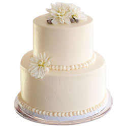 Delightful 2 Tier Wedding Cake