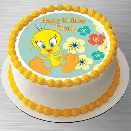 Enticing Kids Special Tweety Photo Cake