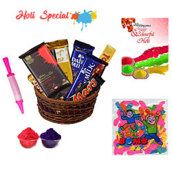Colorful Holi Celebrations Combo Hamper