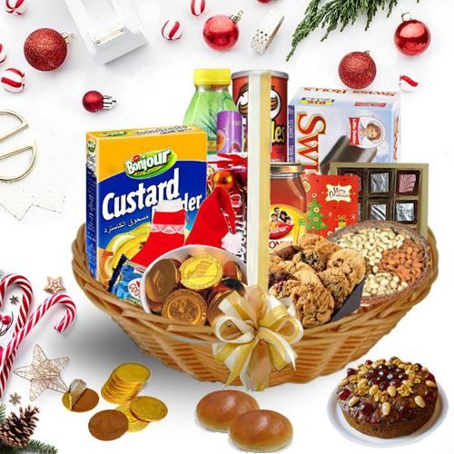 Elegantly Decorated Christmas Hamper<br>