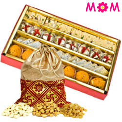 Assorted Dry Fruits with Assorted Sweets from Haldiram