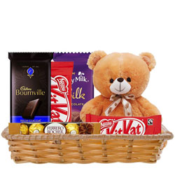 Exclusive Gift Hamper of Chocolates with Teddy