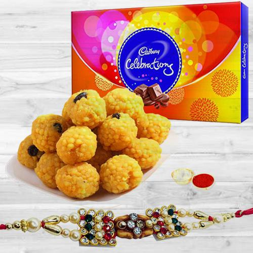 Rakhi with Chocolates n Sweets