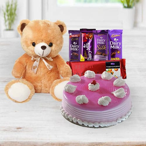 Toothsome Birthday Cake n Gifts
