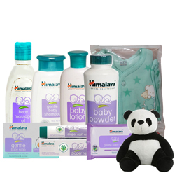 Marvelous Himalaya Baby Care Set with Kids Wear