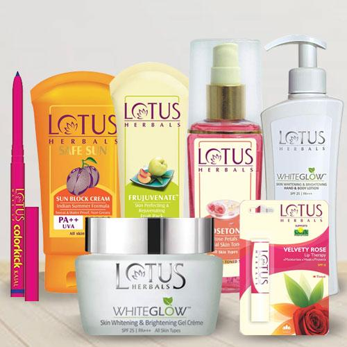 Marvelous Basket of Lotus Goodies