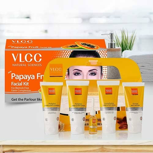 Appealing Pedicure and Manicure Kit with Papaya Fruit Facial Kit from VLCC