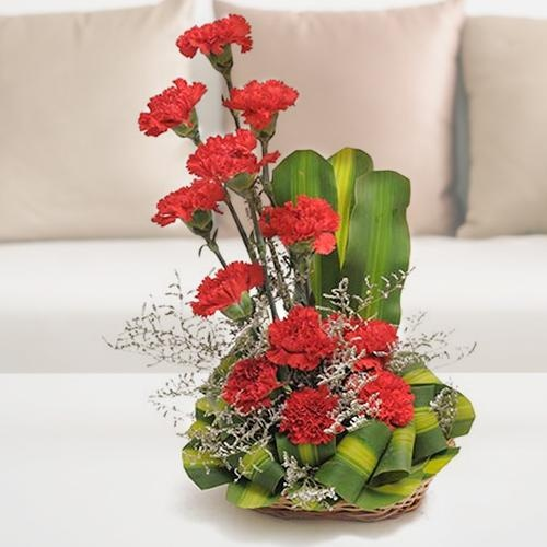 Admirable 12 Red and Pink Carnations