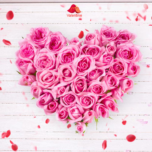 Pink Heart Shaped Arrangements