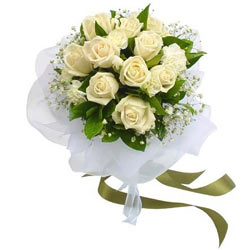 Beautiful White Roses Bunch