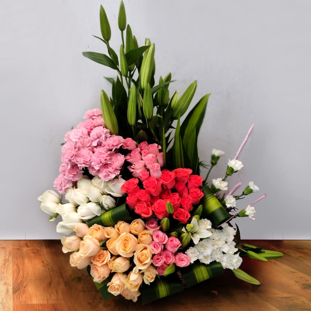 Wonderful Assorted Flowers Arrangement