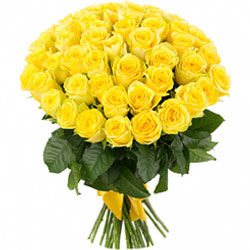 30 Yellow Roses Hand Bouquet
