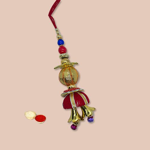 Lovely Selection of Designer Lumba with free Roli Tilak and Chawal for your Dear Bhabhi