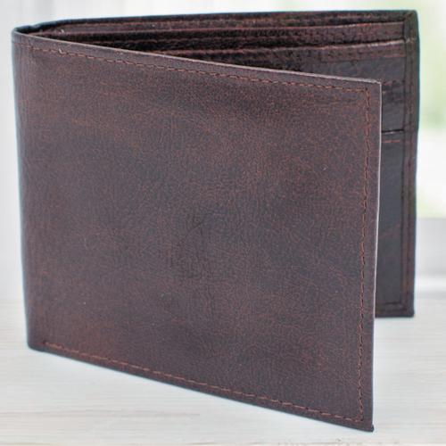 Admirable Dark Brown Leather Wallet for Gents