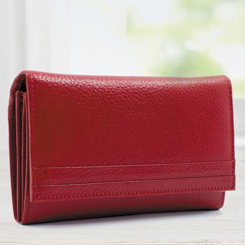 Exclusive Red Color Leather Handbag for Women