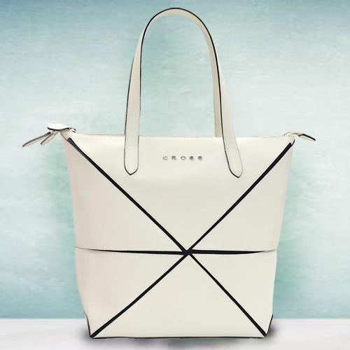 Lovely Faux Leather Ivory Ladies Bag from Cross