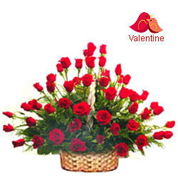 MidNight Delivery ::51 Exclusive  Dutch Red    Roses  Arrangement
