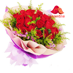 MidNight Delivery ::18 Exclusive  Dutch Red    Roses  Bouquet Nicely Wrapped