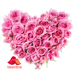 MidNight Delivery ::Pink Heart Shaped Arrangements