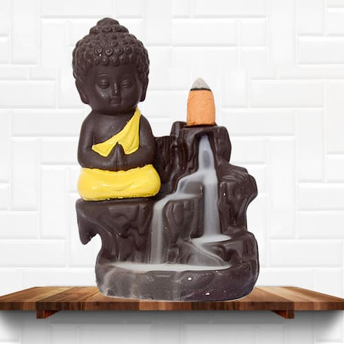 Classy Buddha Incense Smoke Burner Polyresin Fountain