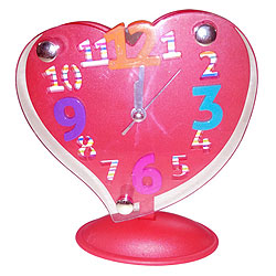 Cute Heart Shaped Red Alarm Clock