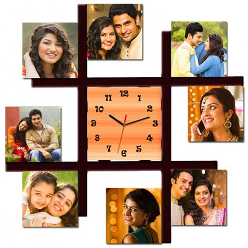 Superb Personalized Photo Wall Clock