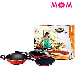 Nirlep Aspa 3 Pc Non-Stick Gift Set