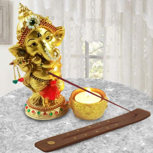 Exclusive Ganesha Idol with Agarbatti Stand