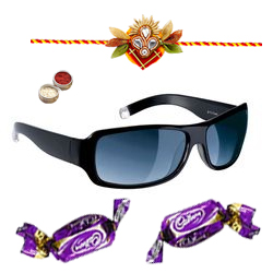 Chic Unisex Sunglasses in Black shades from <b>Fastrack</b> with Chocolate