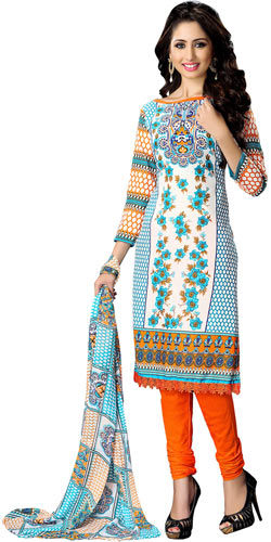 Remarkable Suredael Cotton Printed Suit in Multicolour