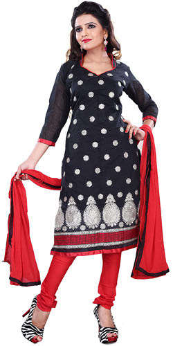 Exclusive Women's Collection of Black Printed Salwar