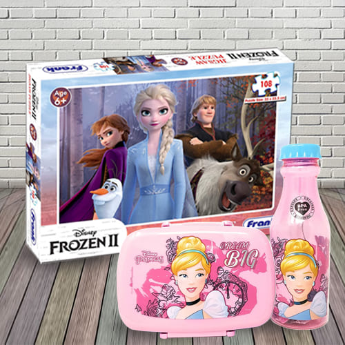 Amazing Lunch Box with Sipper Bottle n Puzzle Combo