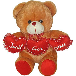 Adorable Teddy Bear with Tri Heart