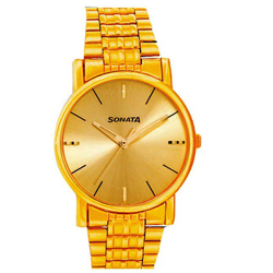 Glorious Round Shaped Sonata Wrist Watch for Men