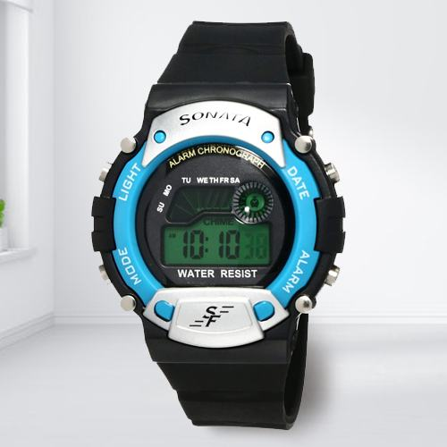 Outstanding Sonata Digital Mens Watch