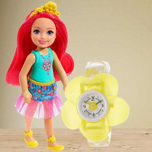 Wonderful Zoop Analog Watch N Barbie Chelsea Doll